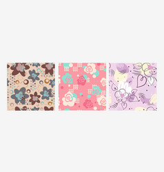 fashionable seamless pattern with flower blossom vector image