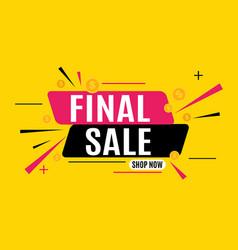 Final sale banner poster vector