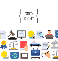 flat style copyright elements vector image