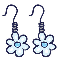 Flowers 2 earrings or color vector