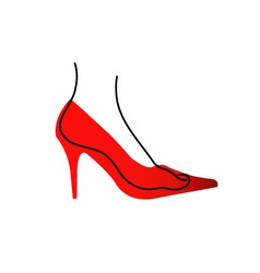 Foot In A Red Shoe Diagram vector image