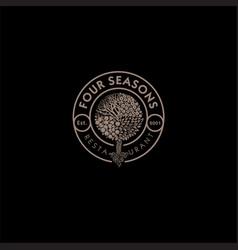 Four seasons wood logo vector
