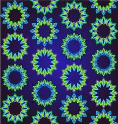geometric floral ornamental pattern vector image vector image