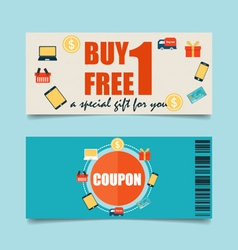 Gift coupons with Business concept Infographics vector