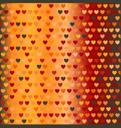 glowing warm heart pattern seamless background vector image