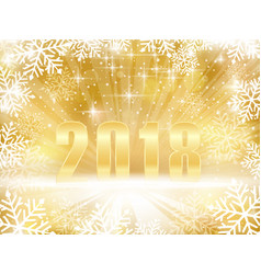 golden sparkling 2018 new years christmas vector image