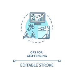 Gps for geo fencing concept icon vector