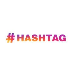 Hashtag copy vector