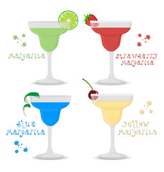 Icon logo for set alcohol cocktails vector