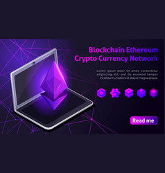 isometry blockchain ethereum crypto currency netwo vector image