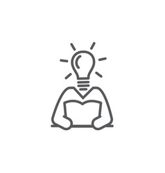 knowledge line icon on white background vector image