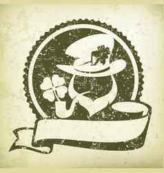 leprechaun circle logo grange vector image