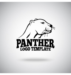 Logo template with Panther for sport teams vector