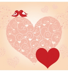 lovebird greeting card vector image