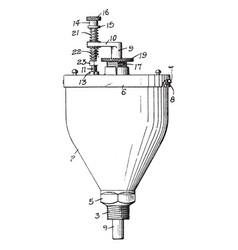 Machine lubricator vintage vector