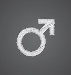 Male sketch logo doodle icon vector