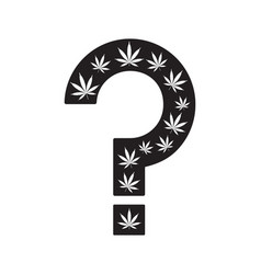Marijuana questions question mark made from vector