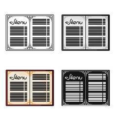 Menu of the restaurant icon in cartoon style vector