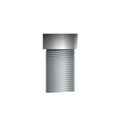 Metallic socket screw isolated on white vector