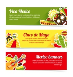 Mexico banner set vector image