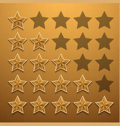 Modern star rating set background vector