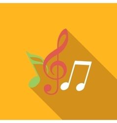 Music flat icon vector