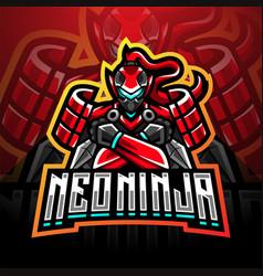 Neo ninja esport mascot logo design vector