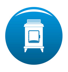 Old oven icon blue vector