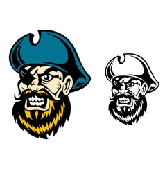 Old pirate captain in cartoon style vector image