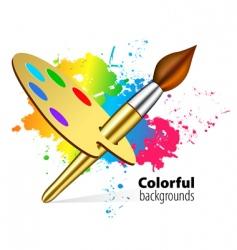 Paint brush vector