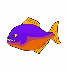 Piranha icon in cartoon style vector
