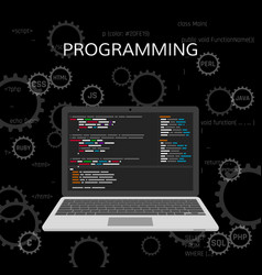Programming and coding web development concept vector