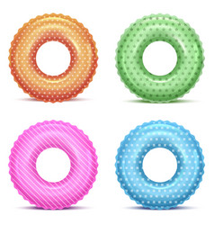 realistic detailed 3d color swim rings in vector image