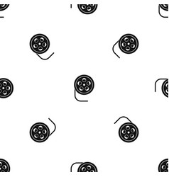 reel with film pattern seamless black vector image
