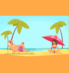 relax on beach composition vector image