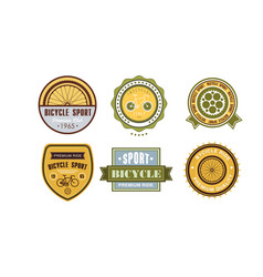 retro bicycle sport logo set vintage sport badges vector image