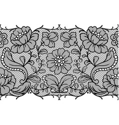 Seamless lace pattern with flowers vector