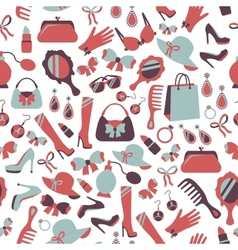 Seamless woman accessories background vector