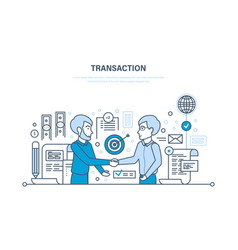 secure transactions payments partnership vector image