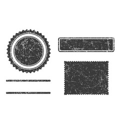 set grunge stamps template different forms vector image