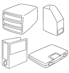 set of document storage vector image