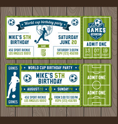 soccer party invites vector image