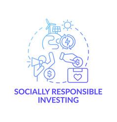 Socially responsible investing concept icon vector