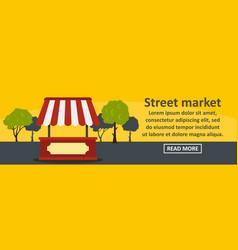 street market banner horizontal concept vector image
