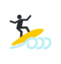 Surfing icon flat vector image