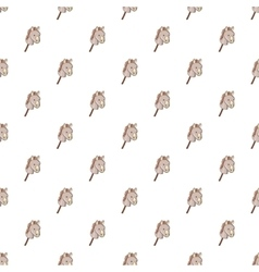 Toy donkey pattern cartoon style vector