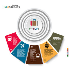 travel infographics transportation vector image