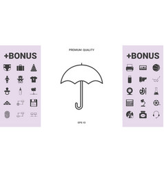 umbrella line icon - graphic elements for your vector image