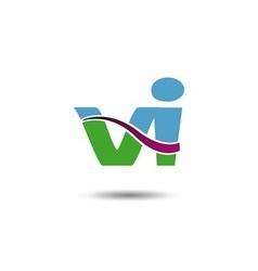 Vi logo vector image