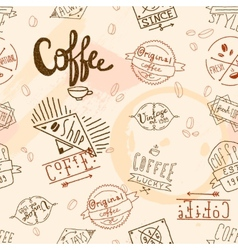 Vintage retro coffee seamless vector image